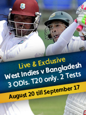 Live - Bangladesh Tour Of West Indies 2014
