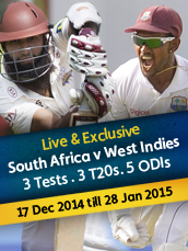 Live West Indies Tour Of South Africa 2014